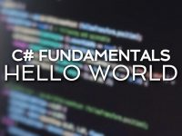 Criando o primeiro app no Visual Studio – Hello World.