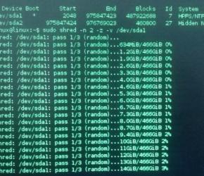 Formatação de baixo nível usando Linux