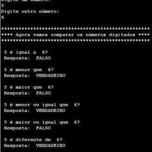 Operadores Relacionais no VisuAlg