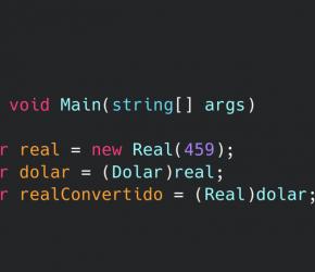 Exemplo de uma aplicação de console usando C#