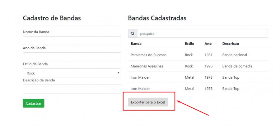 Exemplo de como exportados dados do MySQL para Excel usando PHP e convertendo arquivos CSV para XLS do Excel