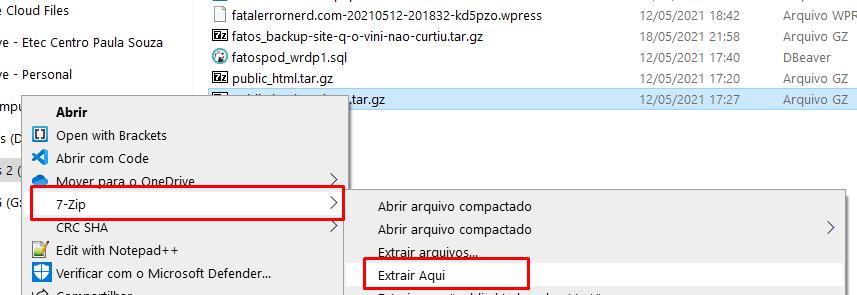 Descompactar Arquivo Tar Gz no Windows