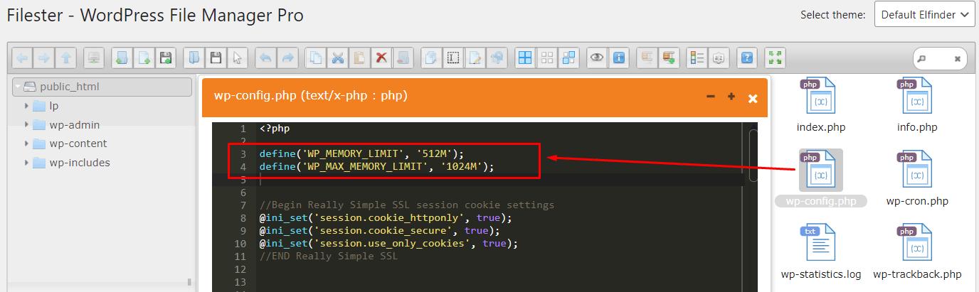 aumentar memória do WordPress e PHP no wp-config