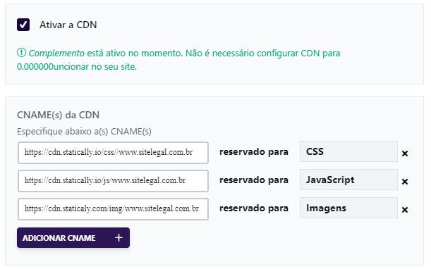 CDN gratuito no WP Rocket