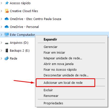 Como Adicionar uma conexão FTP como Local de Rede no Windows