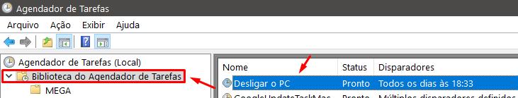 agendar tarefa para desligar o PC automaticamente